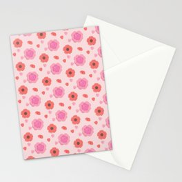 Three Flower Stationery Cards