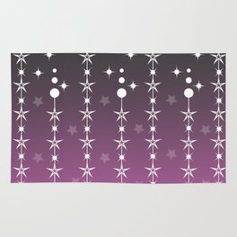Stars and Night Sky - Purple Gradient Shapes Rug