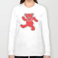 grateful dead Long Sleeve T-shirts featuring Grateful Dead (Ohio State) (Vector Art) by Troy Arthur Graphics