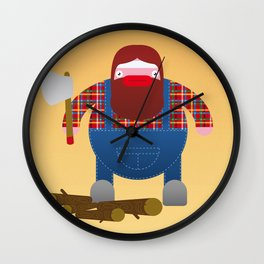 Woodcutter. Wall Clock