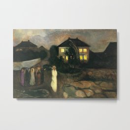 The Nor'easter - The Coastal Autumn Storm landscape painting by Edvard Munch Metal Print