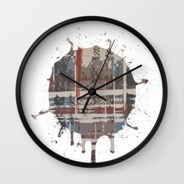 Waterlogged -  splash Wall Clock