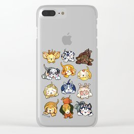 Kawaii Cute Dogs by dotsofpaint Clear iPhone Case