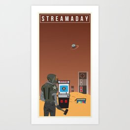 Stream A Day Art Print