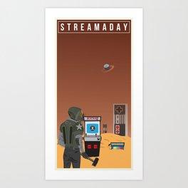 Stream A Day Art Print