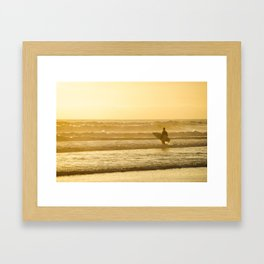 Calfornia Surfer Framed Art Print