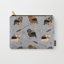 dachshund witch wizard magic wiener dog gifts Carry-All Pouch
