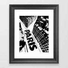 Cities in Black - Paris Framed Art Print