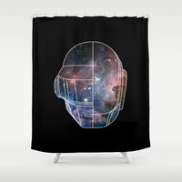 daft punk Shower Curtains featuring Daft Punk Rocks. by Agu Luque