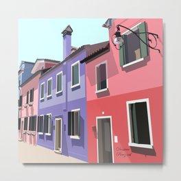 Burano houses Metal Print