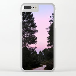Pink sunrise. Into the woods. Clear iPhone Case