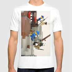 Lego Fight White MEDIUM Mens Fitted Tee