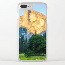 Yosemite half dome at sunrise Clear iPhone Case