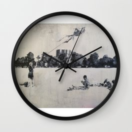 Kite Flying on Clifton Down Wall Clock