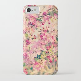 Vintage Pink Crabapple Tree Blossoms in the Sun iPhone Case