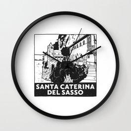 Santa Caterina del Sasso, Lago Maggiore, Italy Wall Clock