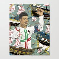 ronaldo Canvas Prints featuring Christiano Ronaldo by Meen Choi