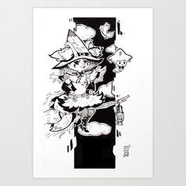 Little Witch Braixen Art Print