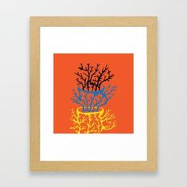 matisse coral Framed Art Print