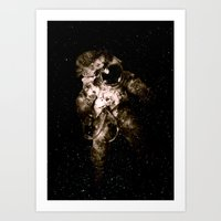 astronaut Art Prints featuring Astronaut by Andreas Lie