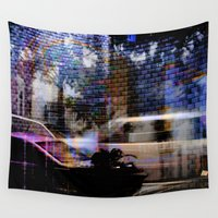 north carolina Wall Tapestries featuring North Carolina Traffic by Michael Zielinskie