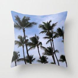 Palm Trees in Aruba Throw Pillow