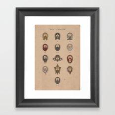 Dwarves - A Spotters Guide. Framed Art Print