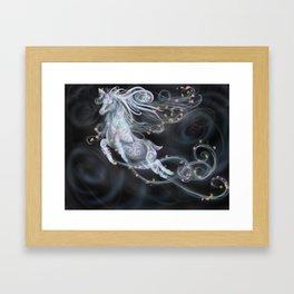 Air elemental stag Framed Art Print