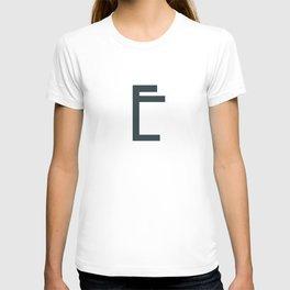 Art Deco Letters -  E T-shirt