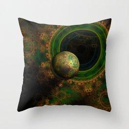 TikTok's Four-Dimensional Steampunk Time Contraption Throw Pillow