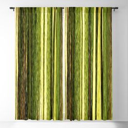 green beige brown yellow abstract striped digital design Blackout Curtain