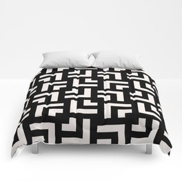 Bold geometric pattern - Stripe Tile Comforters