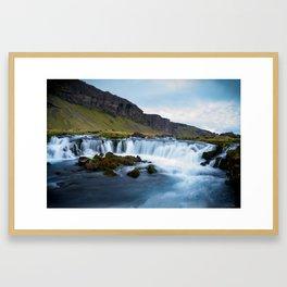 Flow Motion in Iceland Framed Art Print