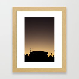 Sunset silhouette (Yarra's Edge, 2012) Framed Art Print
