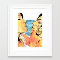 girls Framed Art Prints featuring Girls by K▽nchʁLϟ