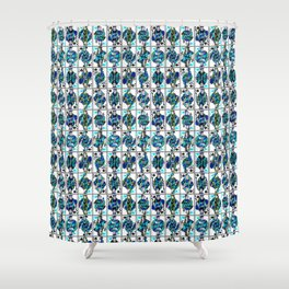 Royals in Blue Shower Curtain