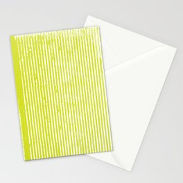 Neon Yellow Telephono Stripes Stationery Cards