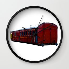 Train Carriage Wall Clock