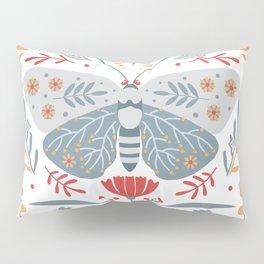 Scandinavian Folk Art - Butterfly & Flowers Pillow Sham