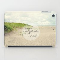 salt water iPad Cases featuring sunshine and salt water by Sylvia Cook Photography