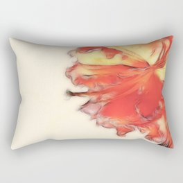 Coral Rhododendron Rectangular Pillow