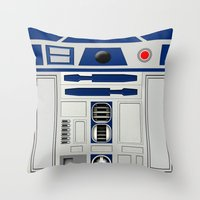 daenerys Throw Pillows featuring R2D2 by Smart Friend