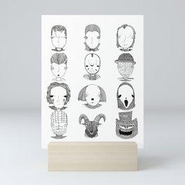 Halloween horror movie marathon Mini Art Print