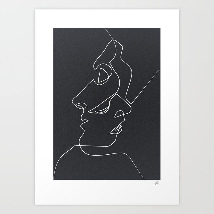 Close Noir Kunstdrucke