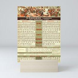 placard horaires cff et cgn r marsens lausanne service du 15 mai au 1er octobre 1949 cff sbb Mini Art Print