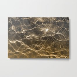 golden reflection 0341 undewater sand Metal Print