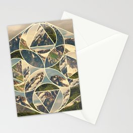 Geometric mountains 1 Stationery Cards