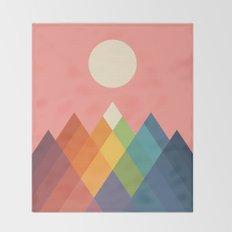 Rainbow Peak Throw Blanket