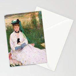 Berthe Morisot - Reading - Digital Remastered Edition Stationery Cards