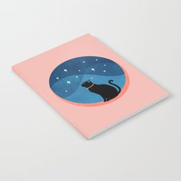 Abstraction_CAT_NIGHT_SKY_STARS_Minimalism_001 Notebook